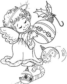 Kerststempels on pinterest christmas coloring pages for Immagini da colorare di angeli