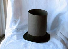 school ideas for kids, lincoln hat, craft projects, top hats, paper hats, paper plates, construction paper