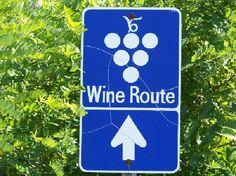 Ontario wine route signage