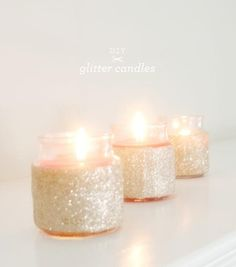 DIY: Glitter Candle tutorial (using Mod Podge  glitter)