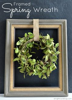 Framed Spring Wreath on { lilluna.com }