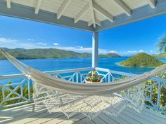 Tortola, British Virgin Islands. Close your eyes and imagine lying in this hammock all afternoon with this magnificent view in front of you. Heaven, baby, heaven!