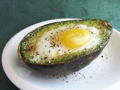 egg baked in an avocado - this literally combines my 2 favorite things