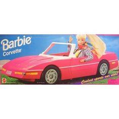 corvettes, corvett convert, barbi corvett, barbie corvette, childhood memori, memori lane
