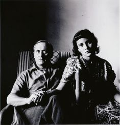 Irving Penn, Joan Miró and His Daughter, Dolores 1948