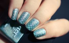Classic mermaid turquoise gets luxe with a sparkle sheen.