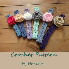 Free Crochet Headband Patterns   Flower Headbands: ... by HanJan Crochet   Crocheting Pattern