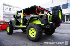 Gecko Green Jeep JK Wrangler 4-Door.