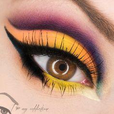 Bold, bright eyeshadow