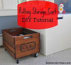 Rolling Storage Crate DIY Tutorial