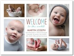 WORLDLY WELCOME PARADISE #baby #birth #announcement
