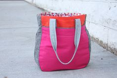 #Color Block Super Tote - #sewing tutorial. We love this design!
