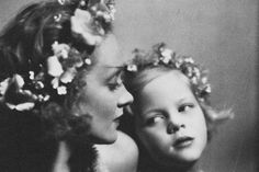 Marlene Dietrich and her daughter Maria Riva photographed by Josef von Sternberg (1930)