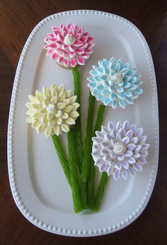 Foodspiration: Cupcakes that Bloom: Chrysanthemum Cupcakes