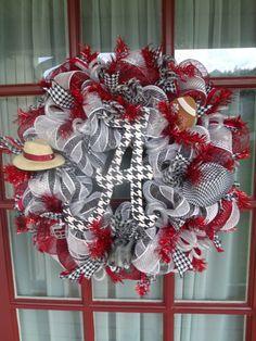Alabama Crimson Tide Fan Deco Mesh Door Wreath by CrazyboutDeco, $79.00