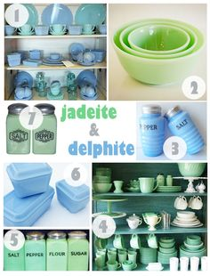I have loved Jadeite green dishes forever!