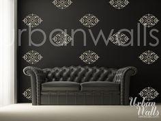 Vinyl Wall Sticker Decal Art  Damask Pattern by urbanwalls on Etsy, $47.00