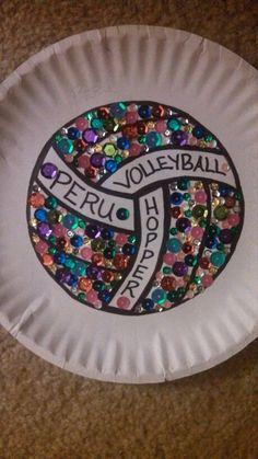 Cut out locker decor volleyball paper plate ideas