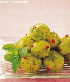 Phudina Aloo recipe | Indian Healthy Snack Recipes | by Tarla Dalal | Tarladalal.com | #5657