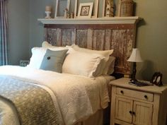 Contact Vintage Headboards for your old door headboards.  They attach to your metal bed frame in seconds with hardware we provide.  Made from 80 - 100 yr old doors they can be made to fit any size bed.  vintageheadboards@gmail.com or 972.668.2603 or 214.289.3862