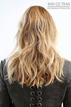 Long, edgy layered hair. Mister AnhCoTran