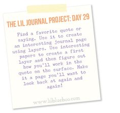 The Lil Journal Project Day 29 via lilblueboo.com
