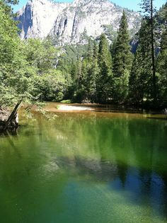 Merced River from the bridge at Housekeeping in Yosemite by hollyn0123, via Flickr