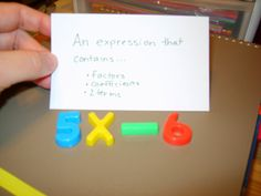 A Sea of Math: Practicing Expressions and Their Vocabulary