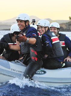 Manuel Díaz 'El Cordobés' y Tamara Falcó en la IV Land Rover Discovery Challenge