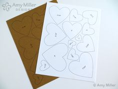 FREE Graduated Heart Pattern Template to use for crafting from Amy Miller Designs