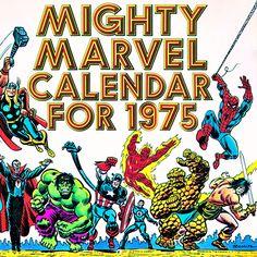 1975 Marvel Calendar Cover