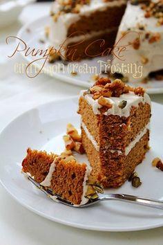 Double Layer Grain Free Pumpkin Spice Cake