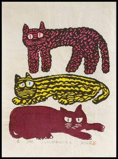 Tri-Color Cats    byIwao Akiyama