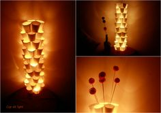 Paper Cup LED Lighting