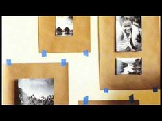 a plan for hanging a wall of pictures tutorial