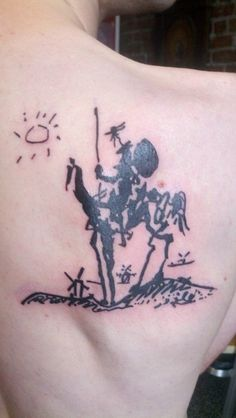 Picasso's interpretation of Don Quixote...gorgeous tattoo! #tattoo #tattoos #literary #literature #classiclit