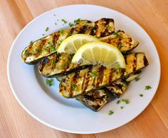 Grilled Lemon Butter Zucchini from Zabar's in NYC