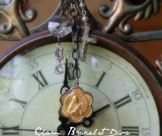 Vintage Mdonna Charm Necklace