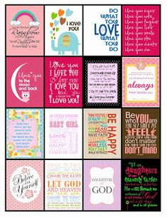 Free Printable Lunch Box Notes for Her