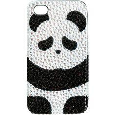 Sleepy Panda iPhone Case ($9.50) ❤ liked on Polyvore