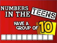 "Numbers in the Teens... have a group of ten!    This video is ""version #2"" of Numbers in the Teens...  While the original version (http://youtu.be/RMM5N63d2DI) focuses on ""writing numbers 11-19,"" this new version emphasizes place value from numbers 10-19.  Yes, I realize that 10, 11, and 12 are not technically ""teen numbers,"" but I wanted to inclu..."