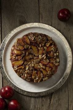 """The easy peasy Plum Upside Down Cake from the """"summer"""" section of Beekman 1802 Heirloom Dessert cookbook  http://beekman1802.com/heirloom-desserts-pre-order/"""