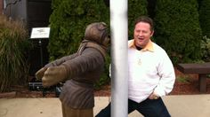 The flagpole scene from 'A Christmas Story' has been immortalized. Poor Flick #achristmasstory #holiday #tennesseerep #theatre #nashville christma stori, flick immort, a christmas story, hammondstatu, nashville, holidays, cbs chicago, theatr, hammond statu