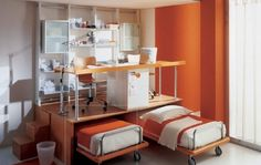 kid bedrooms, small bedrooms, kid rooms, space saving, small rooms