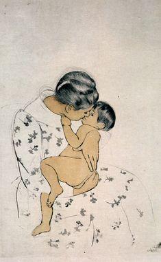 Mothers Kiss - Mary Cassatt
