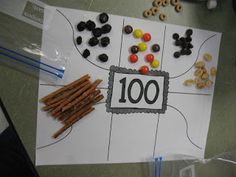 Mrs. Morrow's Kindergarten: 100th Day snack!