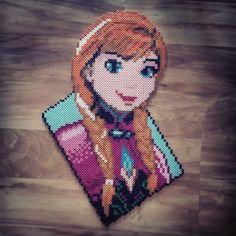 Anna Frozen perler beads by dazer24