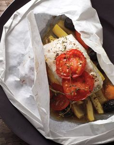 Halibut, Squash, Tomatoes, and Olives - Whole Living Eat Well