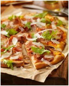 Gluten Free Pizza Crust w/ Prosciutto, Arugula, Pecorino and Balsamic | Udi's® Gluten Free Bread