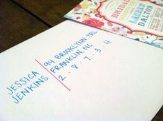Cute Bridal Shower Invitations and a creative way to address envelopes!!!